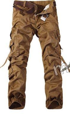 Men Cargo Pants army green