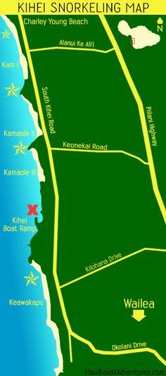 Kihei snorkel map