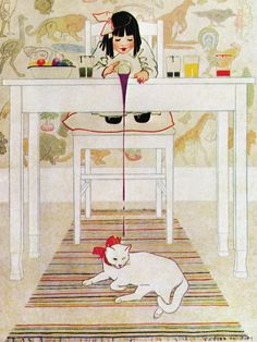 Coles Phillips - Painting for Good Housekeeping Magazine cover (April 1914) Fadeaway