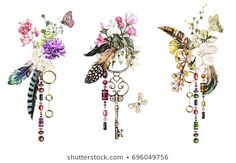 Find Set Watercolor Illustration Roses Other Flowers stock images in HD and millions of other royalty-free stock photos, illustrations and vectors in the Shutterstock collection. Watercolor Drawing, Watercolor Illustration, Graphic Illustration, Watercolor Paintings, Art Floral, Tribal Background, Tribal Feather, Decoupage, Pretty Tattoos