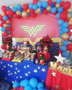 Wonder Woman Birthday, Wonder Woman Party, Superhero Baby Shower, Birthday Display, Trunk Or Treat, Love Holidays, Birthday Celebration, Decoration, Birthdays