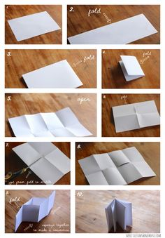 how to make a little book from  single piece of paper
