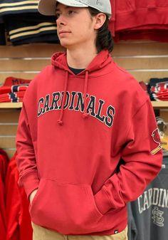 47 St Louis Cardinals Mens Red Atlas Striker Fashion Hood - 48005519 Kangaroo Pouch, St Louis Cardinals, Great Books, Hoodies, Sweatshirts, Pullover, Long Sleeve, Sleeves, Red