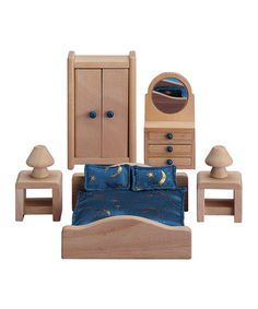 Loving this Suite Dreams Master Bedroom Doll Furniture Set on #zulily! #zulilyfinds