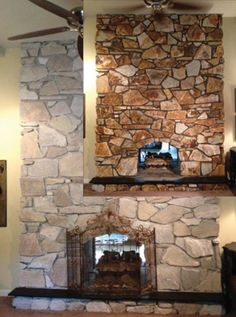 Terrific Pics limestone Fireplace Makeover Strategies At this time there are a great deal of interesting hearth remodel ideas in case you are looking at the most effective mo Stone, Stone Fireplace Makeover, Fireplace Mortar, Indoor Fireplace, Exterior Stone, Fireplace Mantels, Painted Stone Fireplace, Fireplace, Painted Rock Fireplaces