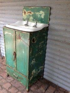 Industrial steel vanity unit. www.oldsoul.com.au