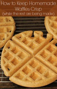How to keep homamde waffles crisp