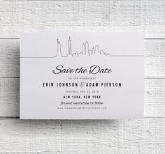 New York Save the Date Printable by EdenWeddingStudio on Etsy