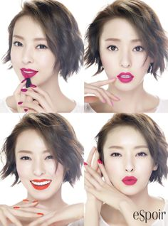 different colors or tones of lipstick-