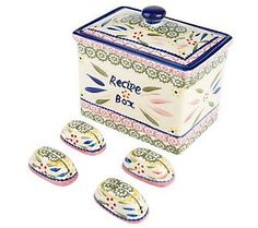 Temp-tations Old World Recipe Box with Holders
