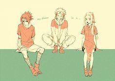Naruto: Sasuke, Sakura, and Naruto