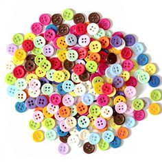 200pcslot 11mm Wholesale Mixed Color Round Shape 4 Hole Resin Button Fit Sewing Scrapbooking Apparel Sewing Accessories ** Continue to the product at the image link. (Note:Amazon affiliate link)