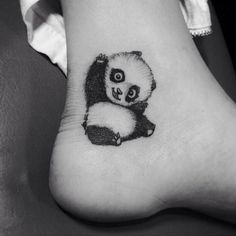 """""""In love with this cute little panda tat."""