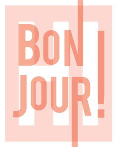 Bonjour French hello greeting modern home by GraphicAnthology