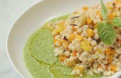 Orzotto con verdure e salsa di zucchine | Food Loft - Il sito web ufficiale di Simone Rugiati