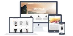 Pinnacle is a bold wordpress theme with versatile options and multiple styles. Fully compatible with woocommerce plugin for an powerful ecommerce site. Best Free Wordpress Themes, Wordpress Theme Design, Premium Wordpress Themes, How To Create A Successful Blog, Free Ecommerce, Responsive Layout, Design Development, Photography Business, Web Design