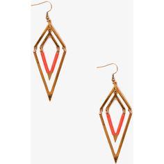FOREVER 21 V-Shape Drop Earrings ($3.80) ❤ liked on Polyvore