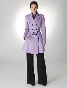 Lavender Trench Coat