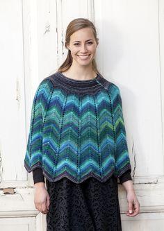 Fin poncho i strik med sik-sak mønster Let, Pullover, Blouse, Sweaters, Tops, Fashion, Summer, Moda, Fashion Styles
