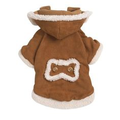 East Side Collection 8-inch Polyester Hooded Sherpa Dog Jacket Xx-small Chestnut from PetEdge Dealer Services  SALE!  $13.43  BuyDogSweaters.com