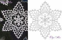 Crochet Ornament Patterns, Crochet Snowflake Pattern, Crochet Mandala Pattern, Crochet Ornaments, Crochet Snowflakes, Afghan Crochet Patterns, Crochet Stars, Crochet Flowers, Crochet Christmas Decorations