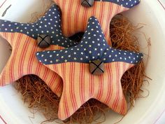 Primitive Americana star bowl fillers prim ornie by ahlcoopedup, $9.95