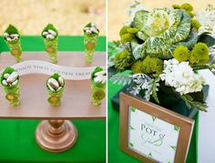 Absolutely adore this pot o' gold and green baby shower on @PartyPressBlog today. Happy St. Patty's!