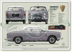 Rover P5B Coupe 1967-73 Classic Cars British, British Sports Cars, Car Rover, Auto Rover, Rover P6, Retro Cars, Vintage Cars, Automobile, Car Prints