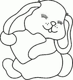 130 desenhos, moldes e riscos de coelhos de Páscoa para colorir, pintar, imprimir e preparar as atividades de Páscoa! ~ ESPAÇO EDUCAR