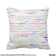 Syrena Text Design II Throw Pillow
