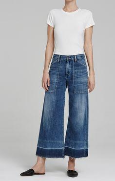 Citizens Of Humanity Melanie Wide Leg Crop In Retro Wide Leg Cropped Pants, Wide Leg Denim, Wide Leg Jeans, Crop Jeans, Jean Outfits, Cool Outfits, Casual Outfits, Summer Outfits, Outfit Jeans