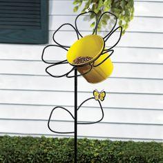 Alimentador para pássaros em formato de Flor