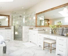 Image result for fixer upper master bathroom