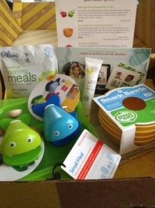 Citrus Lane box- new one every month for child's developmental age. Great for shower gifts, too! Can't wait for my first package!