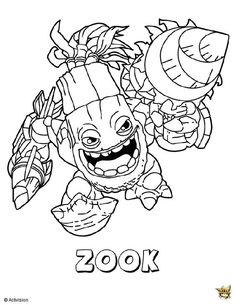 Skylanders Giants Life Zook Coloring Page