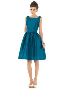 50s style bridesmaid dress. To die for. My prom dress was similar to this, but tea length.