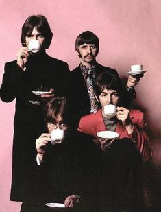 George Harrison, Richard Starkey, John Lennon, and Paul McCartney. Yeah, they were amazing.