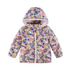 Fendi Baby Girls Multicoloured Monster Print Hooded Jacket