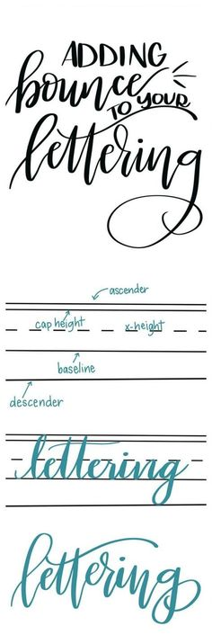 Hand lettering tutoiral: how to at Bounce to your Lettering.