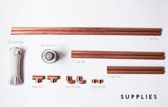 copper clothing rack   diy. / sfgirlbybay