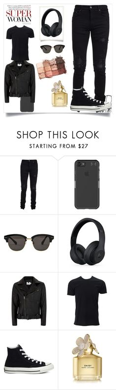 """Daddy Finn 4"" by loladevitt on Polyvore featuring AMIRI, Under Armour, Gentle Monster, Beats by Dr. Dre, Topman, Simplex Apparel, Converse, Marc Jacobs, tarte and men's fashion"