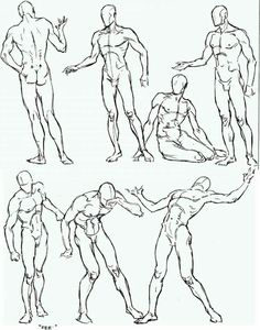 Free for personal use Male Figure Drawing Poses of your choice Human Figure Drawing, Figure Sketching, Figure Drawing Reference, Art Reference Poses, Anatomy Reference, Life Drawing, Drawing Art, Human Body Drawing, Figure Drawing Models