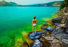 Absolutely one of the most gorgeous lakes ever…wow! Why is Lake Country, BC's Kalamalka Lake green? Things To Do In Kelowna, Seattle, Discover Canada, Canadian Travel, Beaches In The World, British Columbia, Columbia Road, Staycation, Places