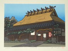 K-Nishijima-Signed-Japanese-Woodblock-Print-Restaurant-of-Kamigamo-326-500
