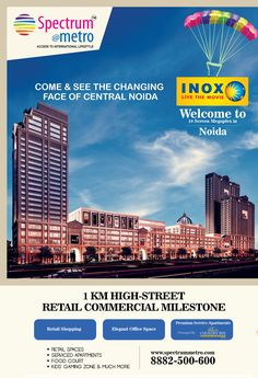 Great #Commercial projects for #officespace, #serviceapartment and #retail #shops in #Noida by #SpectrumMetro