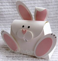 Adorable Bunny - Sites new Petite Purses, Diy Gift Box, Easter Crafts For Kids, Cute Bunny, Holiday Crafts, Gifts For Kids, Gift Wrapping, Wrapping Ideas, Paper Crafts