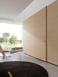 Oak wardrobe with sliding doors | Free Cab wardrobe with sliding door th.22 mm in melaminice ligth oak, maniglia Laclip all chrome handle.