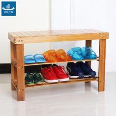 Prateleiras de sapatos fezes mudando seus sapatos fezes fezes de armazenamento de sapatos racks bancos de madeira triplo especiais(China (Mainland))
