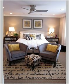 Decor ideas for your modern living room ! Take a look at this interior design trends to decor your living room! Home And Deco, My New Room, Home Bedroom, Master Bedrooms, Master Suite, Master Room, Bedroom Carpet, Modern Bedrooms, Peaceful Bedroom