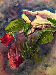 Watercolour by Bakhtiar Umataliev, via Behance